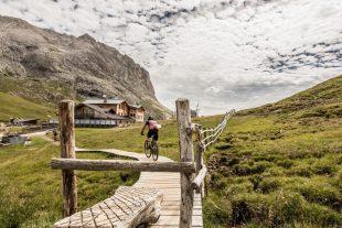 Mit dem Mountainbike zur Plattkofelhütte