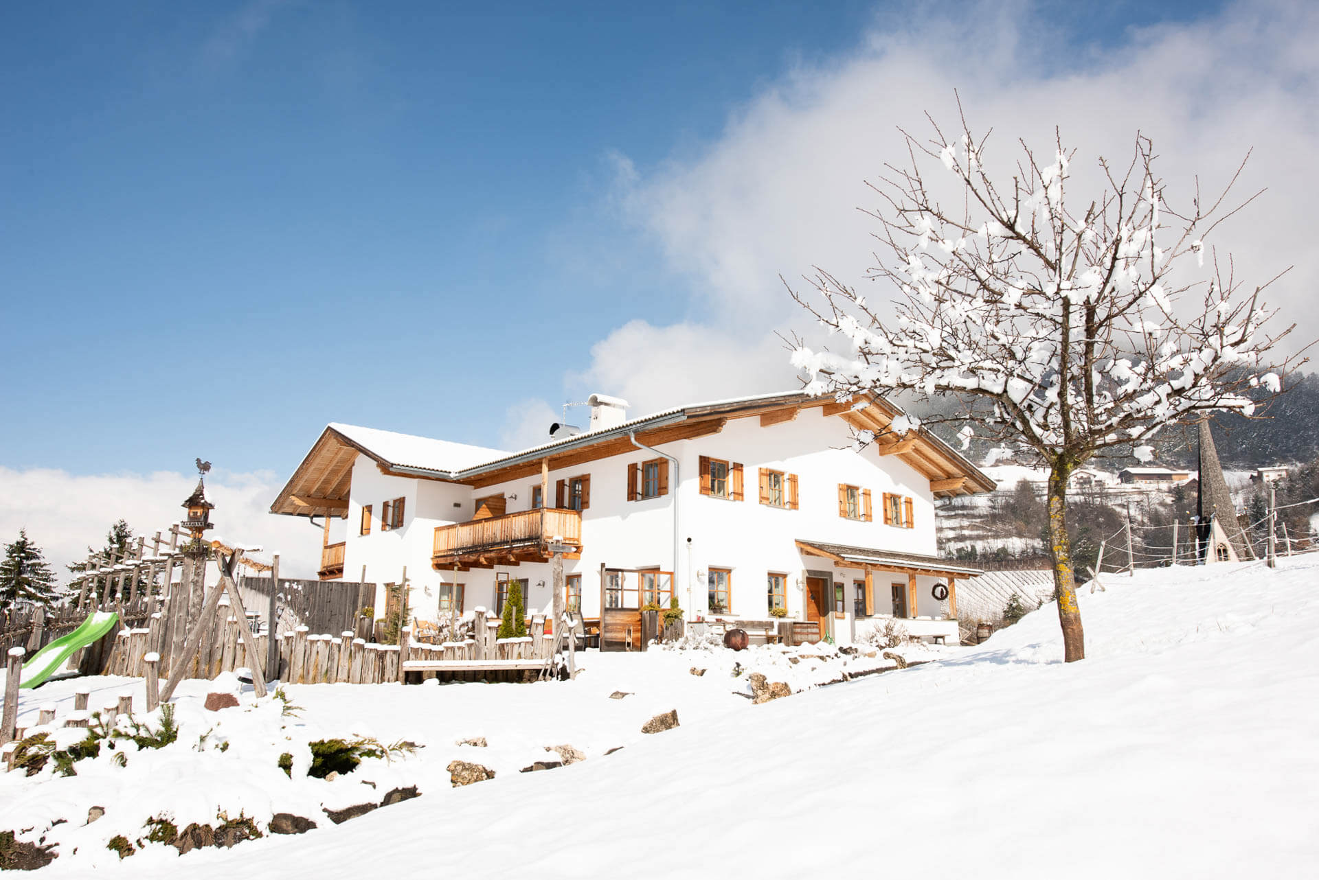 The Örtlhof in winter - farm holidays with sauna