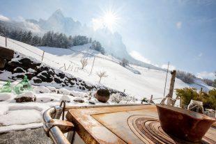 Die Wiesen rund um den Örtlhof im Winter