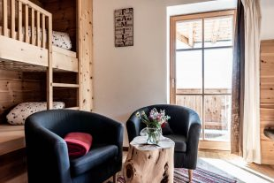 Schlafbereich für Kinder mit Stockbett in der Ferienwohnung Family