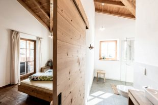 Bedroom with private bathroom, so cosy farm holidays can be